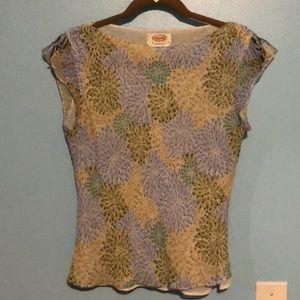Talbots floral blouse